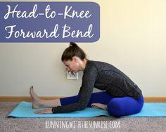 Yoga for hamstrings: head-to-knee forward bend