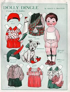 Paper doll Dolly Dingle