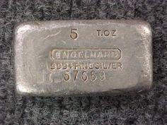 1 5 Troy oz 999 Fine Silver Engelhard Bar Poured Silver Priced 2 Sell | eBay