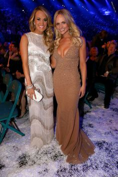 Carrie Underwood and Miranda Lambert ACM Awards 2014 Country Music Artists, Country Singers, Star Wars, Miranda Lambert, Carrie Underwood, Woman Crush, Country Girls, Girl Crushes, Dress To Impress