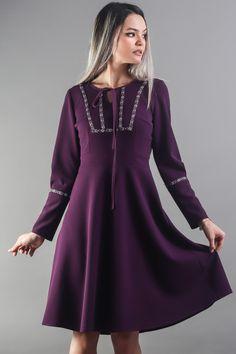 Work Fashion, Elegant Dresses, Street Wear, Dresses With Sleeves, Long Sleeve, Floral, Stylish Dresses, Sleeve Dresses, Long Dress Patterns