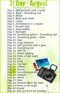 30 Day Photography Challenge | by EdiV Photography