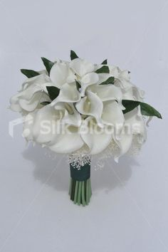 Gorgeous Real Touch Calla Lily Bridal Bouquet with Real Preserved Gypsophila