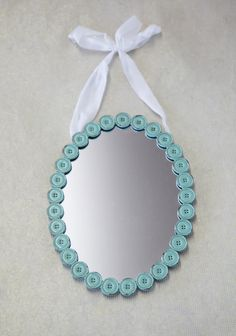 Cute As A Button Hanging Mirror In Green at #Ruche @Ruche