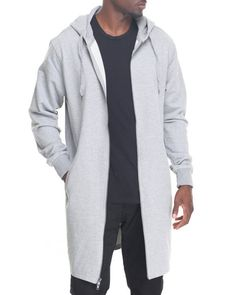 Buyers Picks - Elongated  Zip Fleece Hoody