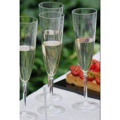 14 flûtes à champagne ciselées 9,90€