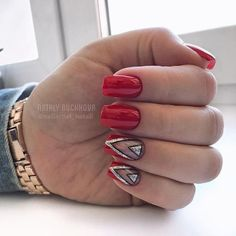 Insane Red Nail Art Designs Cute Nail Art Ideas for a Red Manicure. The post Red Nail Art Designs Cute Nail Art Ideas for a Red Manicure. appeared first on Nails . Daisy Nail Art, Daisy Nails, Red Nail Art, Cute Nail Art, Cute Nails, Red Manicure, Red Nails, Hair And Nails, Perfect Nails