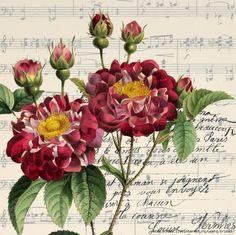 Imprimolandia: Flores vintage para imprimir