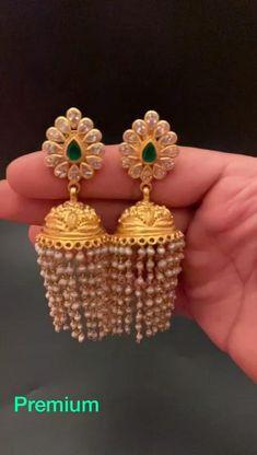Silver Wedding Jewelry, Gold Jewelry Simple, Coral Jewelry, Ear Jewelry, Cute Jewelry, Jewelery, Gold Earrings Designs, Gold Jewellery Design, Antique Jewellery
