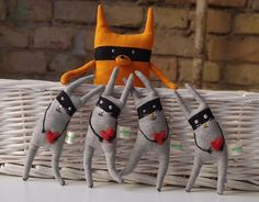 SALE Bandit  rabbit by adatine on Etsy, $25.00