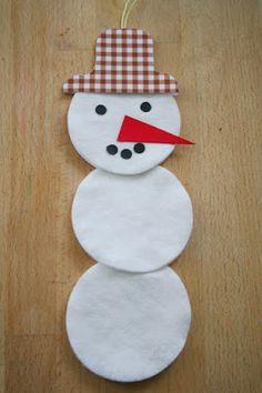 Hóember korongvattából Snowman Cards, Advent Calendar, Christmas Crafts, Holiday Decor, Craft Ideas, Home Decor, Children, Winter, Sombreros