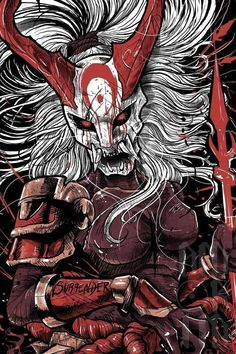 Kalista blood moon by Marcel Amorim Amorim Blood Kalista Marcel moon Ka. - Kalista blood moon by Marcel Amorim Amorim Blood Kalista Marcel moon Kalista blood moon - I Phone 7 Wallpaper, Dark Fantasy, Fantasy Art, Samurai Artwork, Japanese Tattoo Art, Desenho Tattoo, Arte Horror, Blood Moon, Japan Art