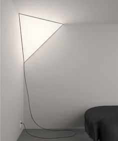 """Established & Sons Corner Light Peter Bristol """"A unique light source. The lamp lives in the corner of a room, creating a glowing triangle that seems to blend-in and stand-out simultaneously. Interior Lighting, Home Lighting, Lighting Design, Corner Lighting, Modern Lighting, Lighting Ideas, Wall Lighting, Interior Architecture, Interior And Exterior"""
