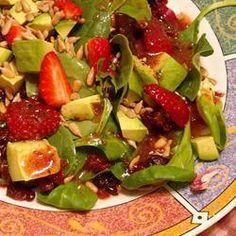 Avocado and Raspberry Salad @ allrecipes.com.au
