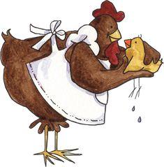 Jolies poulettes de basse-cour
