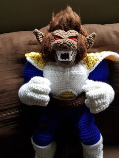 Post with 382 votes and 32941 views. Tagged with gaming, dragonball, creativity, vegeta, crochet; Shared by Great Ape Vegeta ? Crochet Crafts, Crochet Dolls, Crochet Projects, Knit Crochet, Yarn Dolls, Crochet Geek, Amigurumi Doll, Amigurumi Patterns, Crochet Patterns