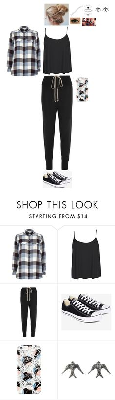 """""""Sans titre #2125"""" by leacousty55 on Polyvore featuring mode, River Island, Boohoo, Rick Owens, Converse, Blackbird and the Snow, Accessorize et Argent"""