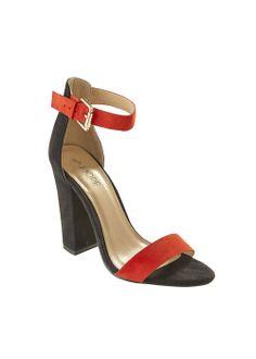 adc73916ca0e Contrast Block Heel Sandals £15.00  Matalan