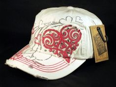 e94bc96b013 ☆This is a High Quality White Ball Cap! It s in the Vintage Distressed Visor