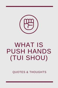 wondering what is Pushing Hands or Tui Shou in Tai Chi (Taijiquan), I found some quotes online and in books. Discover the various definitions and aspects!