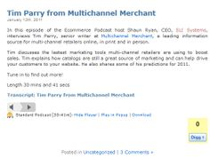 Tim Parry from Multichannel Merchant - Jan 2011 @SLISystems