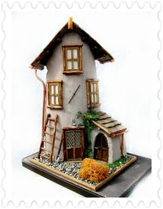 Best Hobbies For Retirees Info: 5807478879 Clay Houses, Putz Houses, Miniature Houses, Fairytale House, Pottery Houses, Cheap Hobbies, Rc Hobbies, Gnome House, Ideias Diy
