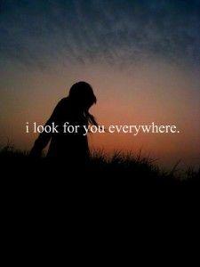 eu olho para você em todos os lugares.