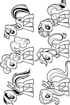 Guarda tutti i disegni da colorare di My Little Pony www.bambinievacanze.com