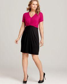 c2a3d25ceb3bf Karen Kane Plus Color Block Tuck Dress Women - Plus - Dresses -  Bloomingdale s