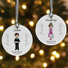 Wedding Party Characters© Personalized Ornament