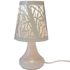 Lampe de chevet Tactile Design - 3 intensités lumineuses - Design Blanc
