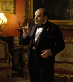 Poirot isn't a funny detective or even a nice one, but he knows how to solve a crime. And he's busy: Suchet has played Poirot in 65 separate ITV films since the network announced last fall that they would begin filming five more this year Hercule Poirot, Agatha Christie's Poirot, Miss Marple, Death In The Clouds, I Love The World, David Suchet, Mystery Series, Star Wars, Film Serie