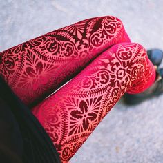 Burned Velvet Wine Leggings. Visit the website to check out our current collection.