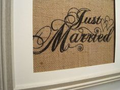 Burlap Wedding Sign Rustic By SunBeamSigns 2100