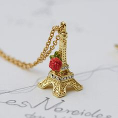 Find More Pendant Necklaces Information about Transmission Tower Rose Necklace For Women Fine Elegant Brand Jewelry With Box High Quality Best Gift,High Quality necklace 17,China tower sky Suppliers, Cheap necklace gold from warmhome jewelry on Aliexpress.com