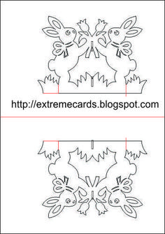 Extreme Cards and Papercrafting: Easter Rabbits Magic X Pop Up Card 3d Cards, Pop Up Cards, Paper Cards, Pop Up Card Templates, Card Making Templates, Stylo 3d, Rena, Paper Pop, Silhouette Curio