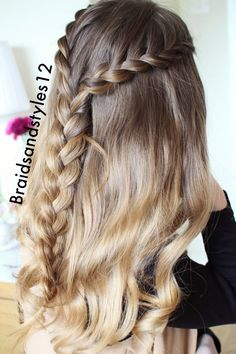Half Up Half down Hairstyles . Half up Half down braided hairstyle idea by braidsandstyles12