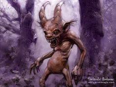 Drekavac: A Slavic creature that screams in the night and has been said to wander the Zlatibor Mountains and mutilate sheep. Sightings have been recorded as recent as 2003. Illustration: Spektralni Drekavak from izvorimagijc.com