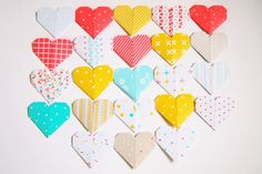 Etsy の Origami Paper Hearts 33 Designs by KaoriCraft