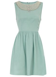 This @DorothyPerkins mint embellished necklace chiffon dress for $95, is a must have! http://rstyle.me/h46kv4mtu6