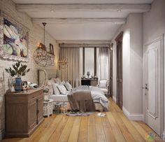 Стиль кантри в интерьере, спальня в стиле прованс