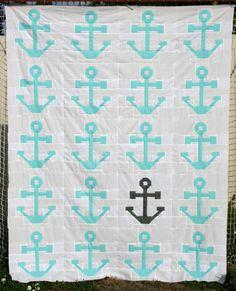 Anchor Quilt Top - Hopeful Homemaker