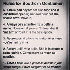 TRUE STATEMENTS. Wish men round here were more like this