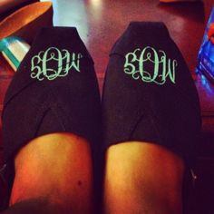 monogram toms! so cute