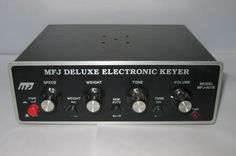 Vintage MFJ-407B Electronic Keyer, Morse Code, Ham Radio, Iambic, Telegraph by RobsHobbies on Etsy