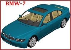 BMW 7 Paper Car Free Vehicle Paper Model Download