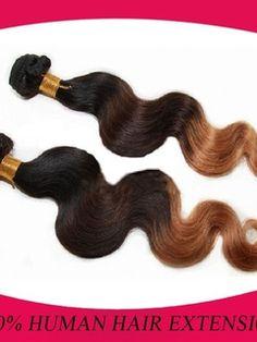 Brazilian+Virgin+Hair+Ombre+1B/4/27+100%+Human+Hair+Body+Wave+Weave/Weft+1+PC