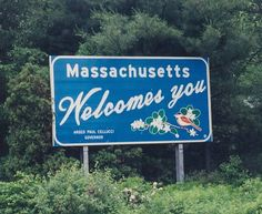 Massachusetts Welcome Sign off Interstate 91 before Springfield. Lived in Agawam MA before I got married. Franklin Massachusetts, Springfield Massachusetts, Massachusetts Tattoo, Massachusetts Usa, 50 States, United States, New England States, Little Corner, Boston Strong