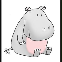 Hippo Clipart With Cartoon Drawings A Dancing Flying