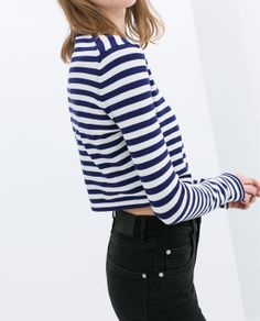 Image 5 of STRIPED TOP from Zara